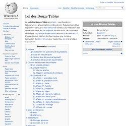 Loi des Douze Tables -450