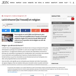 Loi El Khomri (loi Travail) et religion
