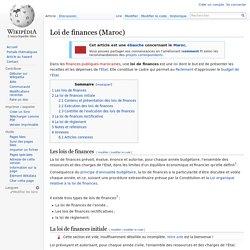 Loi de finances (Maroc)