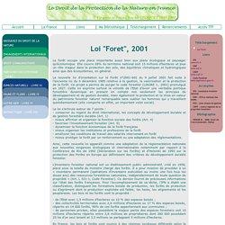 Loi Forêt, 2001