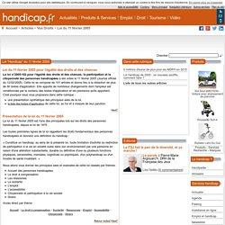 Loi handicap du 11 février 2005
