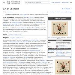 Loi Le Chapelier — Wikipédia