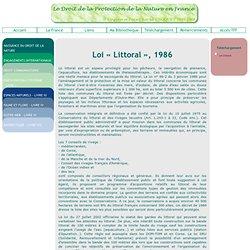 Loi Littoral, 1986