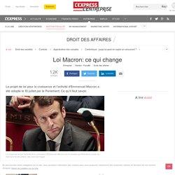 Loi Macron: ce qui change