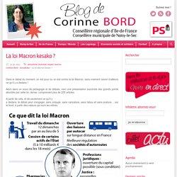La loi Macron kesako ? - Corinne Bord