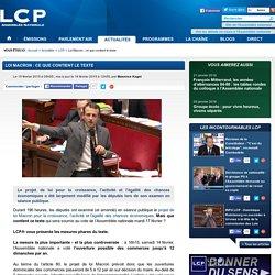 Loi Macron: ce que contient le texte