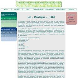 Loi Montagne, 1985