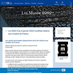 Loi Musée 2002