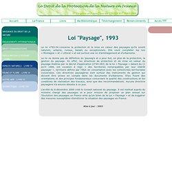 Loi Paysage, 1993