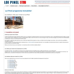 LOI PINEL PROGRAMME IMMOBILIER