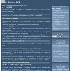 Loi Pinel SCI - Creation SCI