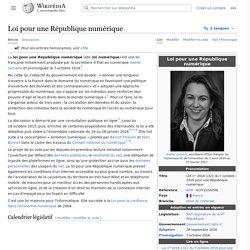 Loi pour une République numérique