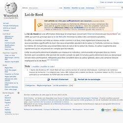 Loi de Reed