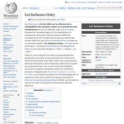 Loi Sarbanes-Oxley