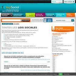 Loi sociale en France de 1936 à 2011