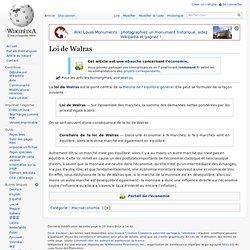 Loi de Walras