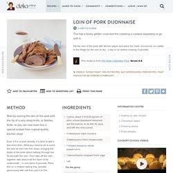 Loin of Pork Dijonnaise