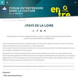 Pays de la Loire - Forum entreprendre dans la culture