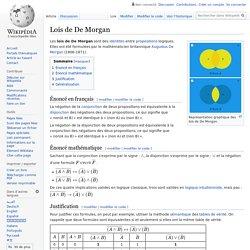 Lois de De Morgan