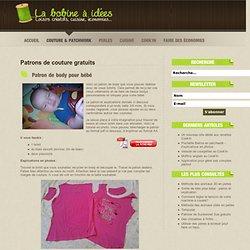 Patron de body pour bébé - La bobine à idées : loisirs créatifs, cuisine, économies...