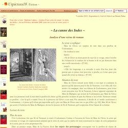 S. Lojkine, Analyse d'une scène de roman: la canne des Indes - Utpictura18 Fiction