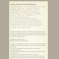 Lokahi Breath of Ha Meditation