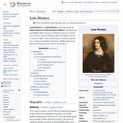Lola Montez - 1821-1861
