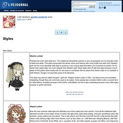 lolita_handbook: Styles