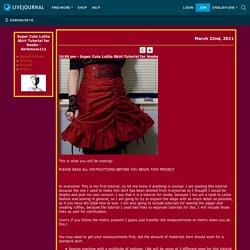 darkmuse112 - Super Cute Lolita Skirt Tutorial for Noobs