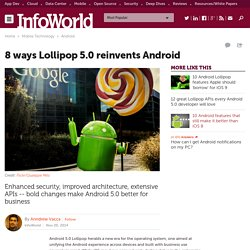 8 ways Lollipop 5.0 reinvents Android
