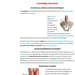 Les douleurs au dessous du dos dans lépine dorsale