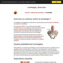 Lombalgie Exercices