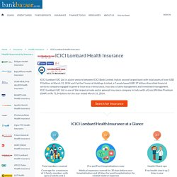 ICICI Lombard Health Insurance - Get Quotes and Apply Online