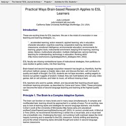 Lombardi - Practical Ways Brain-based Research Applies to ESL Learners
