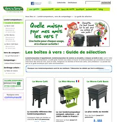 Lombricomposteur d'appartement, lombricomposteur de cuisine ou de jardin - le guide d'achat