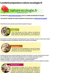 Lombricomposteur Eco-Worms nature-ecologie