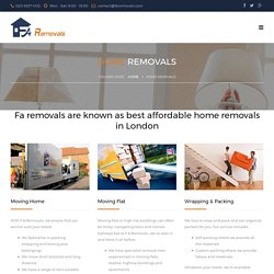 London's best affordable, cheap home removals