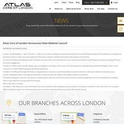 Atlas Cars of London Announces New Website Launch