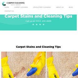 North London » Carpet Stains And Cleaning Tips