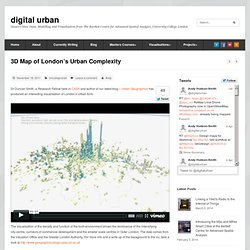 3D Map of London's Urban Complexity