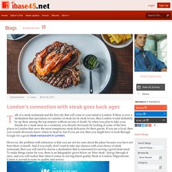 London's connection with steak goes back ages