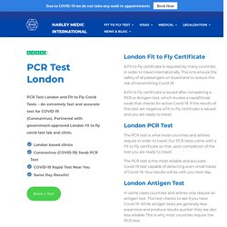 London Fit to Fly Covid Test