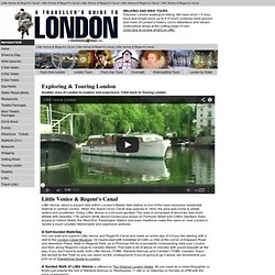 London Walks & Canal Cruises - Exploring Little Venice & Regent's Canal