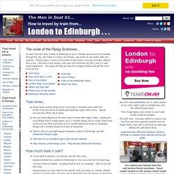 LONDON TO EDINBURGH BY TRAIN from £25