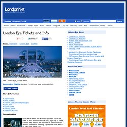 London Eye Tickets and Info | LondonNet