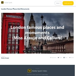 London Famous Places And Monuments
