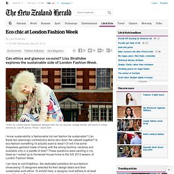 Eco chic at London Fashion Week - Environment