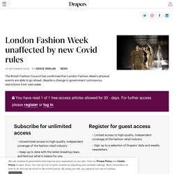 London Fashion Week unaffected by new Covid rules