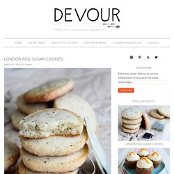 London Fog Sugar Cookies