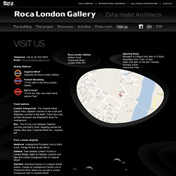 Visit us - Roca London Gallery by Zaha Hadid Architects